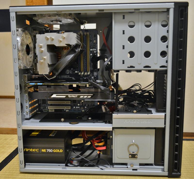 組み換え前のIntel Core i5-2500Kで組んだ自作PC