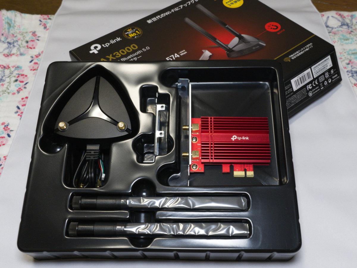 TP-Link Archer TX3000eの同梱物