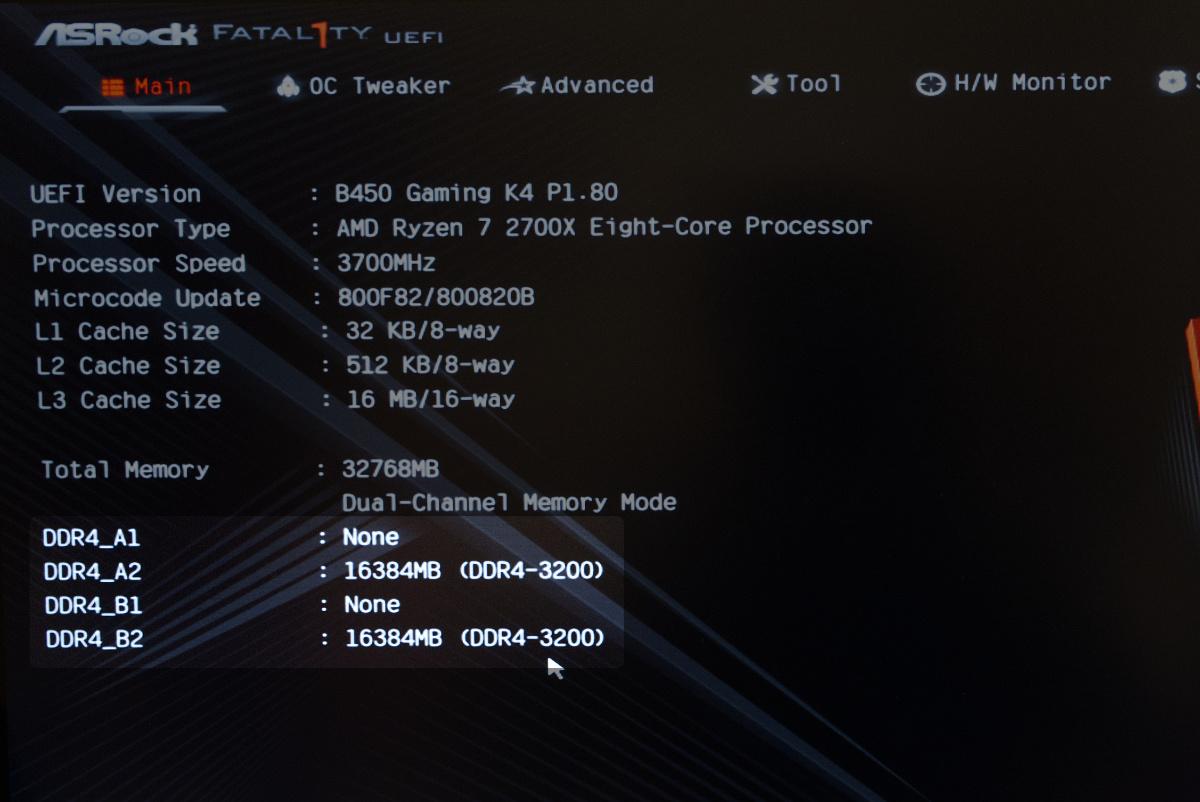 CFD W4U3200CX1-16GのOC後